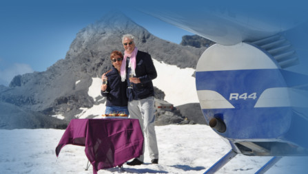 Alpenrundflug mit Gletscherlandung