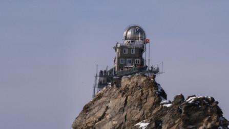 Helikopterlandung auf dem Jungfraujoch