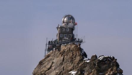 Gletscherlandung auf dem Jungfraujoch