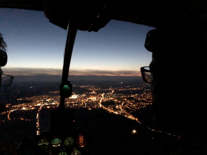 Cockpit Nachtflug