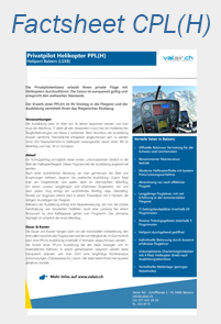 Factsheet CPL(H)