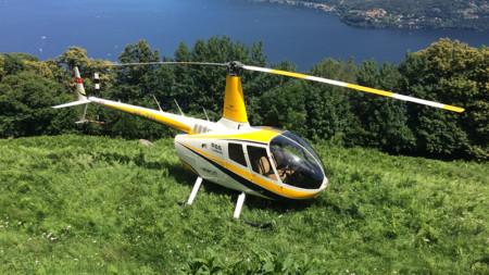 Köstliches Essen und Helikopter