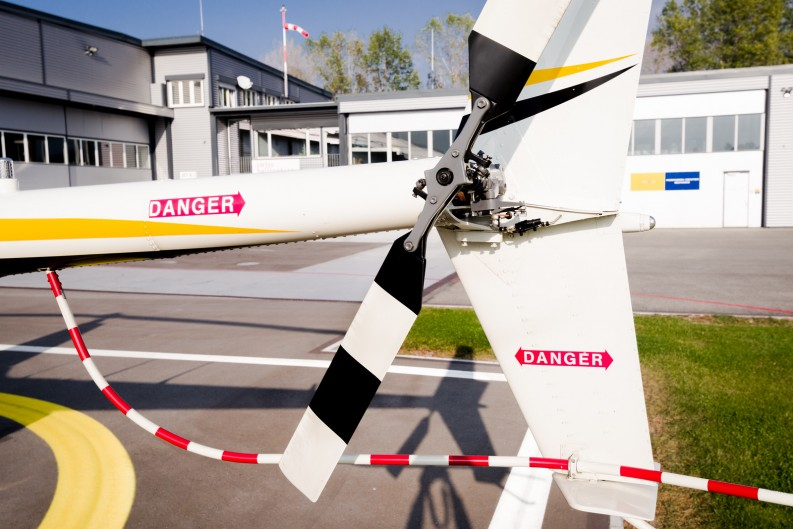 Heckrotor R66 auf Heliport Balzers