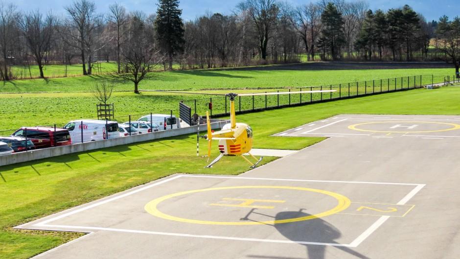 R44 Landung